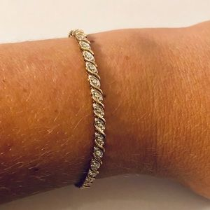 10K Gold & Diamond Tennis Bracelet 7.5inch